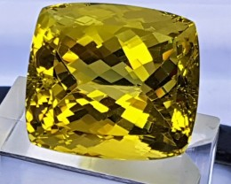 55.42cts, Certified Citrine,  Top Cut,  Clean, Giant Stone