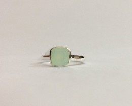 Chalcedony 925 Sterling silver ring #644