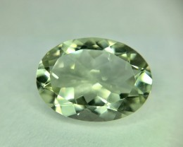 10.25CT Natural Green Amethyst  Beautiful Faceted Gemstone S15