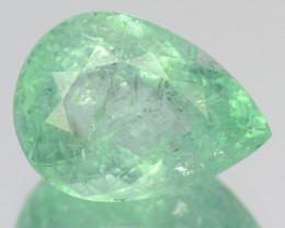 CERTIFIED 3.78 Cts Natural Paraiba Tourmaline Pear Cut Mozambique Gem