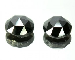 2.81 Cts Natural Black Diamond Rose Cut Pair Africa
