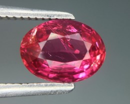 GIL Certified 1.27 Cts Untreated Ruby Awesome Color ~ Mozambique