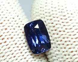 UNHEATED 1.70 CTS CERTIFIED NATURAL BEAUTIFUL VIOLETISH BLUE SAPPHIRE CEYLO