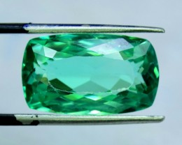 14.30 cts Octangle Shape Cut  Green Spodumene Gemstone From Afghanistan