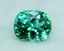 10.00 CTS Oval Shape Cut Lush Green Spodumene Gemstone From Afghanistan (S)
