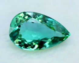 18.70 cts cts Pear Shape Cut Lush Green Spodumene Gemstone From Afghanistan