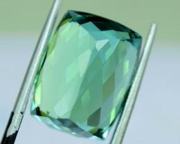 16.50 cts Baguette Shape Cut Lush Green Spodumene Gemstone From Afghanistan