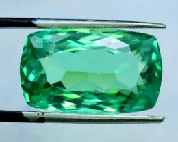 19.50 cts Octangle Shape Cut Green Spodumene Gemstone From Afghanistan