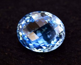 24.90 cts briolette Both Sides Oval Shape Cut Lovely Blue Topaz Loose Gemst