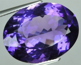 18.00 CTS INCREDIBLE PURPLE TOP QUALITY AMETHYST OVAL URUGUAY VVS