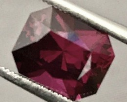 2.19ct Purple Red Umbalite Garnet - Makawi, Master Cutter