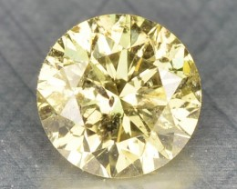 0.21 Cts Natural Light Yellow Diamond Round Africa