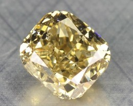 0.25 Cts Natural Honey Yellow Diamond Cushion Africa