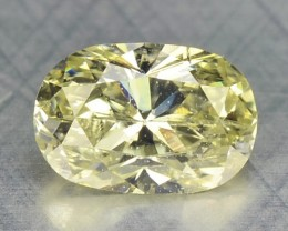 0.22 Cts Natural Yellow Diamond Oval Africa