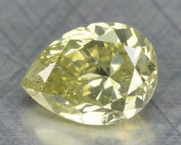 0.27 Cts Natural Yellow Diamond Pear Africa