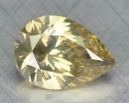0.37 Cts Natural Yellow Diamond Pear Africa