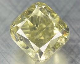 0.49 Cts Natural Yellow Diamond Cushion Africa