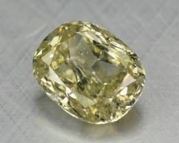 0.13 Cts Natural Yellow Diamond Cushion Africa