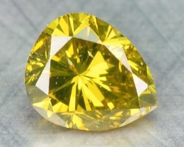 0.18 Cts Natural Yellow Diamond Pear Africa