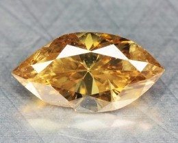 0.27 Cts Natural Honey Brown Diamond Marquise Africa