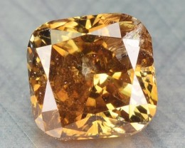 0.28 Cts Natural Honey Brown Diamond Cushion Africa