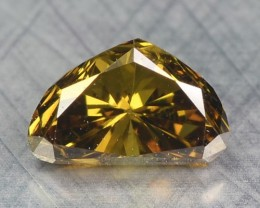 0.26 Cts Natural Honey Brown Diamond Fancy Africa