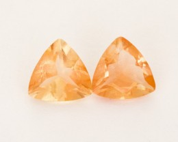 3.9ct Total Weight Peach Triangle Sunstone Pair (S2514)