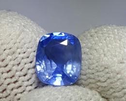 UNHEATED 1.62 CTS CERTIFIED NATURAL BEAUTIFUL CORNFLOWER BLUE SAPPHIRE CEYL