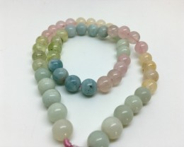 191 Crt Natural Beryl  Round Beads Strand Excellent Quality