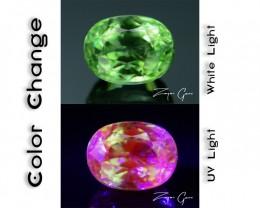Rare 1.49 ct Ugrandite Fluorescent Grossular Garnet Merelani TanzaniaSKU 1