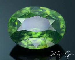 Rare 3.49 ct Green Zircon Great Luster Unheated Cambodia SKU 2