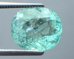 Certified 5.43 Cts Paraiba Tourmaline Attractive Higher Color ~  Mozambique