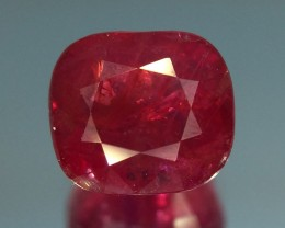 1.55 Ct Gil Certified Red Ruby 100%  Untreated With Good Luster