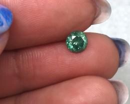 (B5) Dazzling IGL Cert Nat $814 0.52ct. Round Fancy Vivid Green Diamond