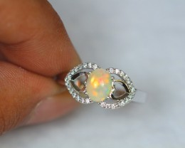 16.14ct Sterling Silver 925 Natural Welo Opal Sz 9.5 Ring GW692