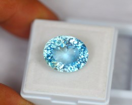 12.50ct Natural Blue Topaz Millennium Cut Lot GW699