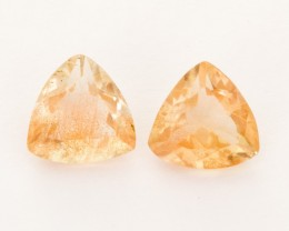 3ct Total Weight Champagne Triangle Sunstone Pair (S2518)