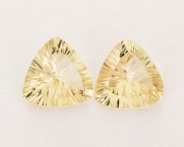5.5ct Total Weight Champagne Triangle Sunstone Pair (S2520)