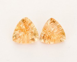 2.9ct Total Weight Champagne Triangle Sunstone Pair (S2521)