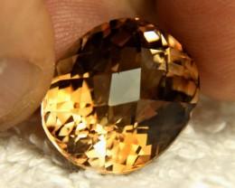 25.84 Carat Cushion Cut VVS Brazil Golden Topaz - Gorgeous