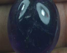 21.55 CT NATURAL UNTREATED AMETHYST CABOCHON GEMSTONE