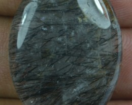 29.55 Ct Natural Untreated Rutilated Quartz Gemstone