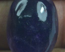 25.95 CT NATURAL UNTREATED AMETHYST CABOCHON GEMSTONE