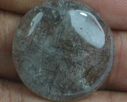 30.55 Ct Natural Untreated Rutilated Quartz Gemstone