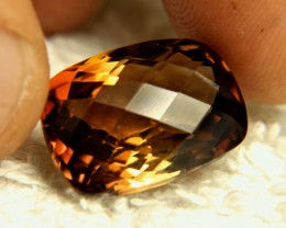19.64 Carat Brazilian VVS1 Golden Topaz Cushion - Gorgeous