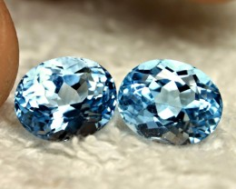 11.49 Tcw. Matched Blue Brazilian IF/VVS1 Topaz - Gorgeous