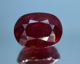 2.17 Ct Gil Certified Untreated Red Ruby With Good Luster