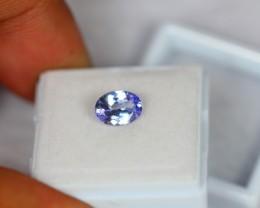 1.28Ct Natural Violet Blue Tanzanite Oval Cut Lot V747