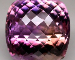 37.00ct Ametrine Checker Cushion Cut VVS Jewellery Grade Natural Gem