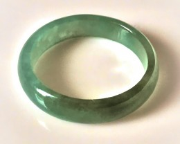 Fine textured slightly Glassy Jadeite Ring  Size 10 A Grade